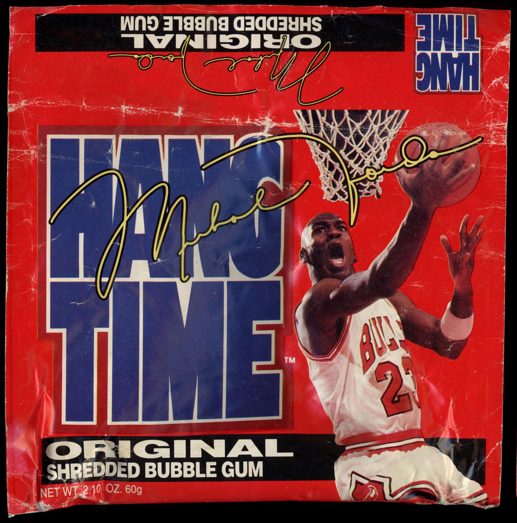Amurol's Hang Time bubble gum - featuring Michael Jordan