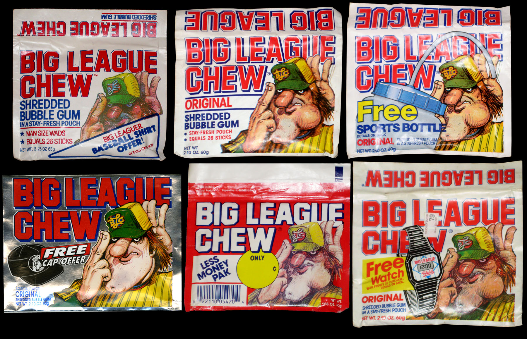 """Assorted """"Original"""" packs. From the 80's through the 90's."""