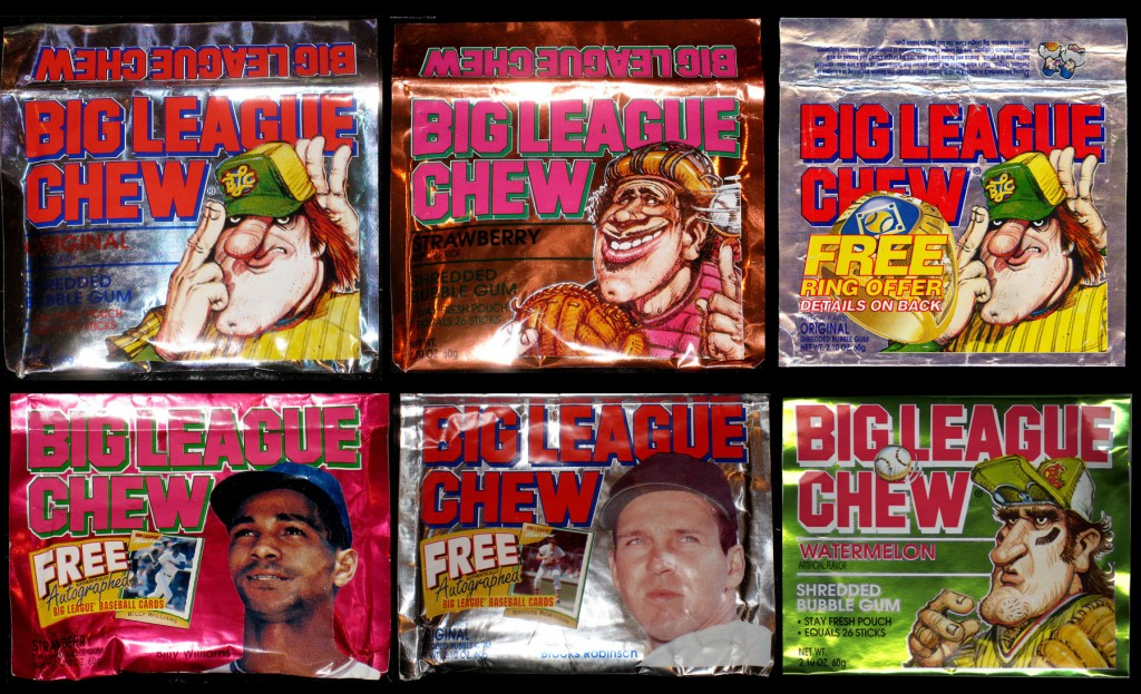Various foil Big League Chew pouches