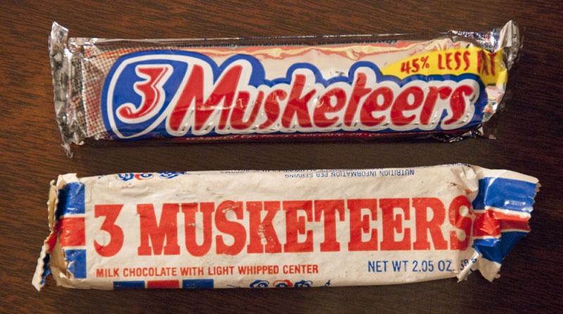 3 Musketeers comparison - 1980 - 2011