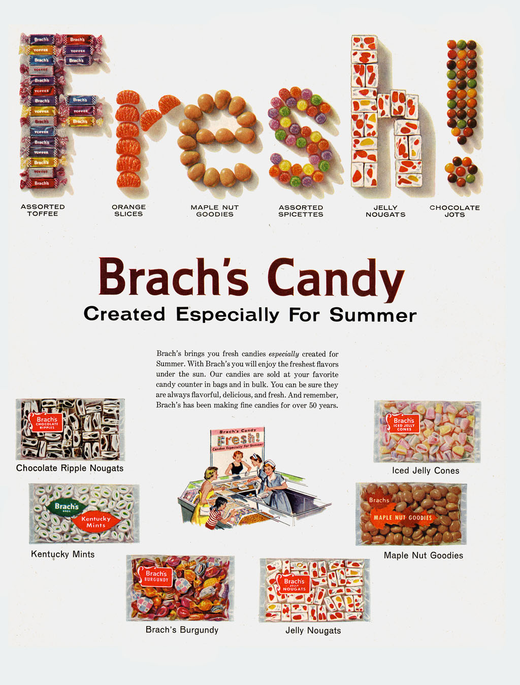 candy ad brachs especially for summer may 23 1960