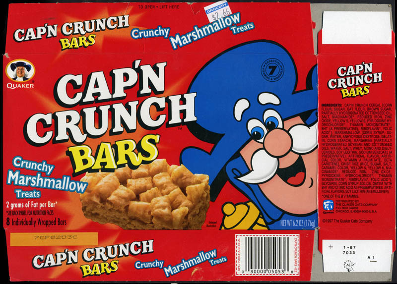 Cap'n Crunch bars - 1997