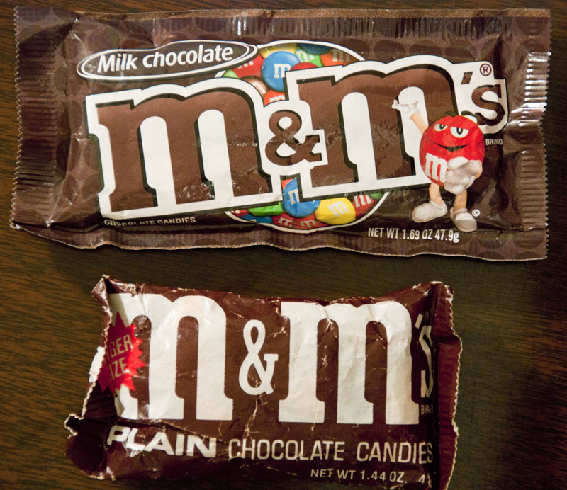 M&M's Plain comparison