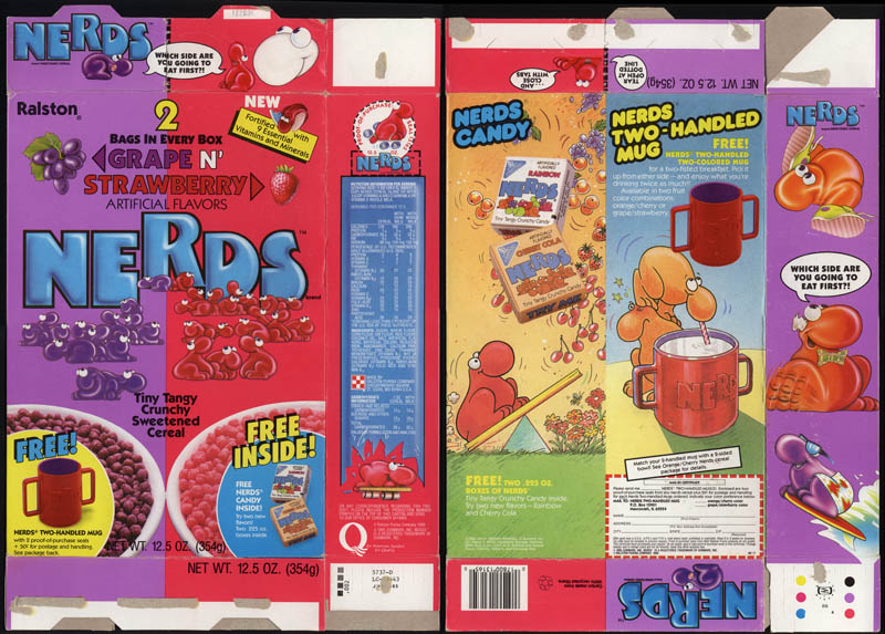 Nerds cereal box - 1986