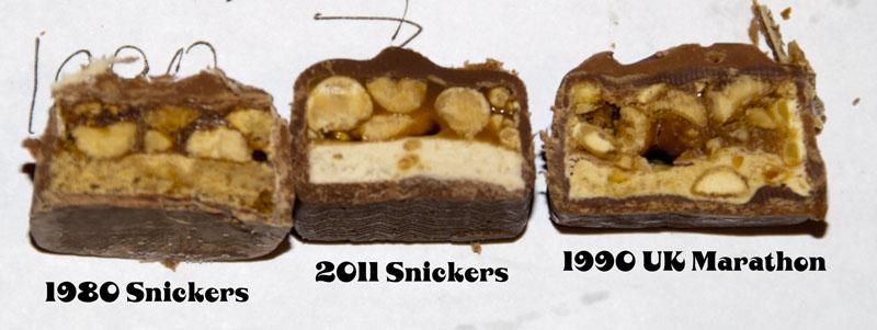 Snickers Trio Cutaway