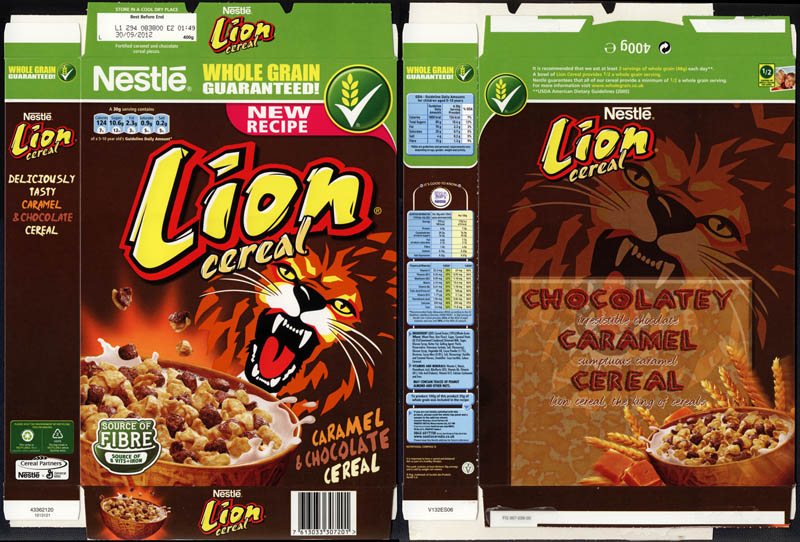 Nestle Lion cereal from the UK - 2011