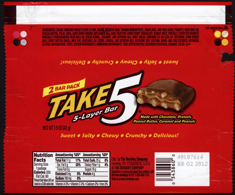 A topic for a Tuesday – Take 5 from Hershey. | CollectingCandy.com