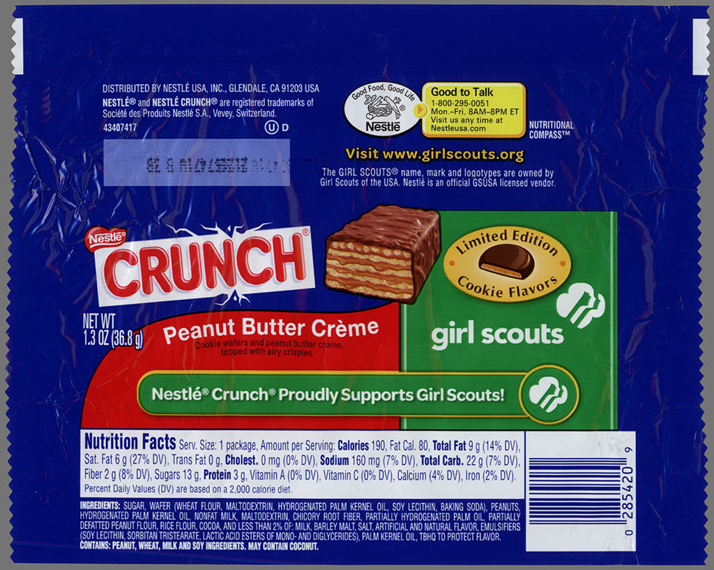 out now nestle crunch girl scout cookie candy bars