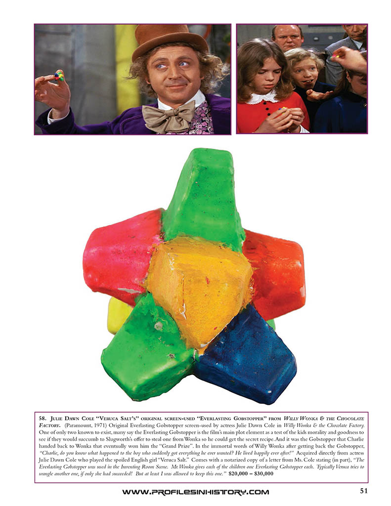 fa27a755806b3 Willy Wonka Everlasting Gobstopper. Source  The Dreier Collection –  ProfilesInHistory.com