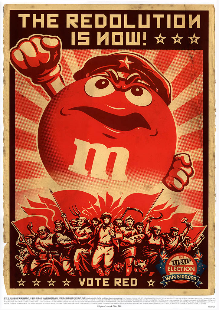 Australia-New Zealand's 2008 M&M's Election Posters ...