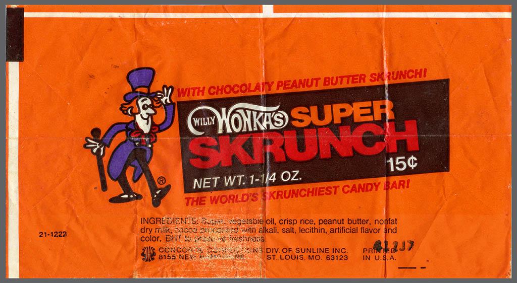 Evolution Of The Skrunch Willy Wonkas Super Skrunch That
