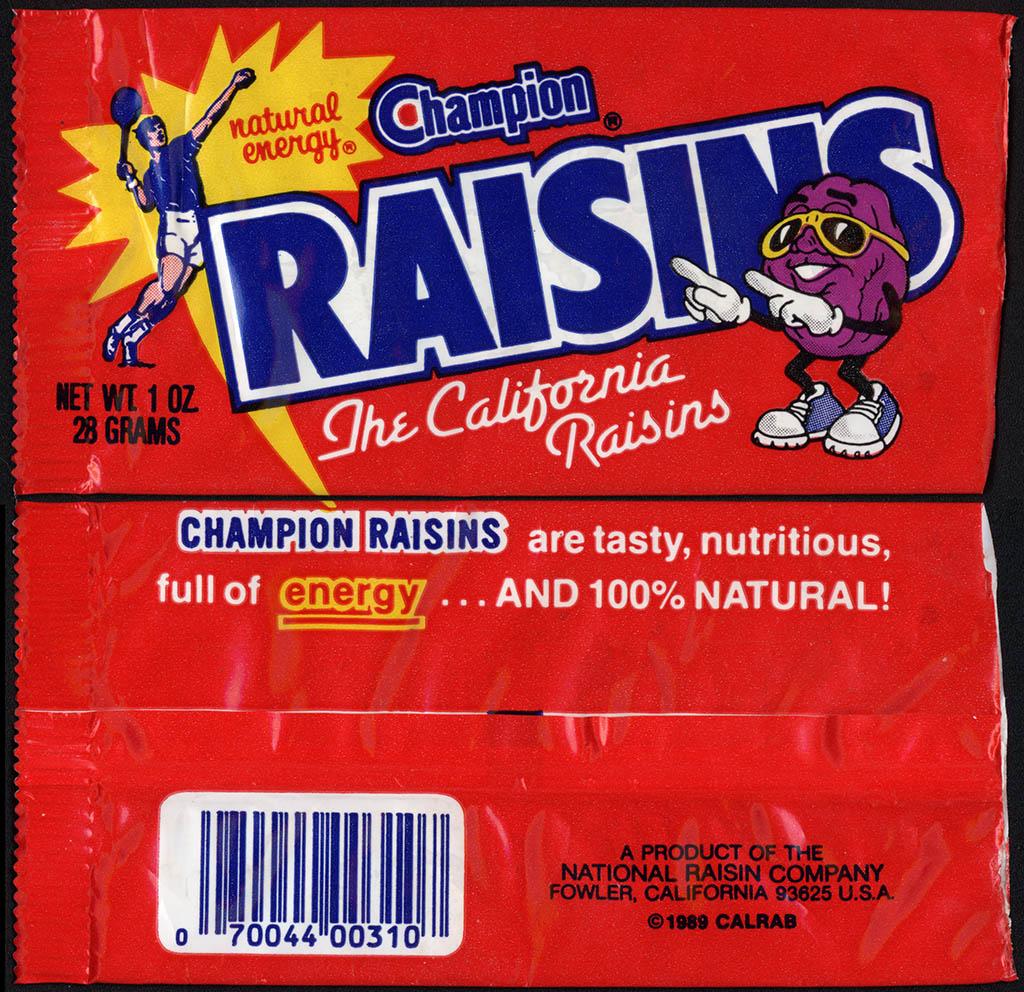 Marketing - Packaging of Raisins