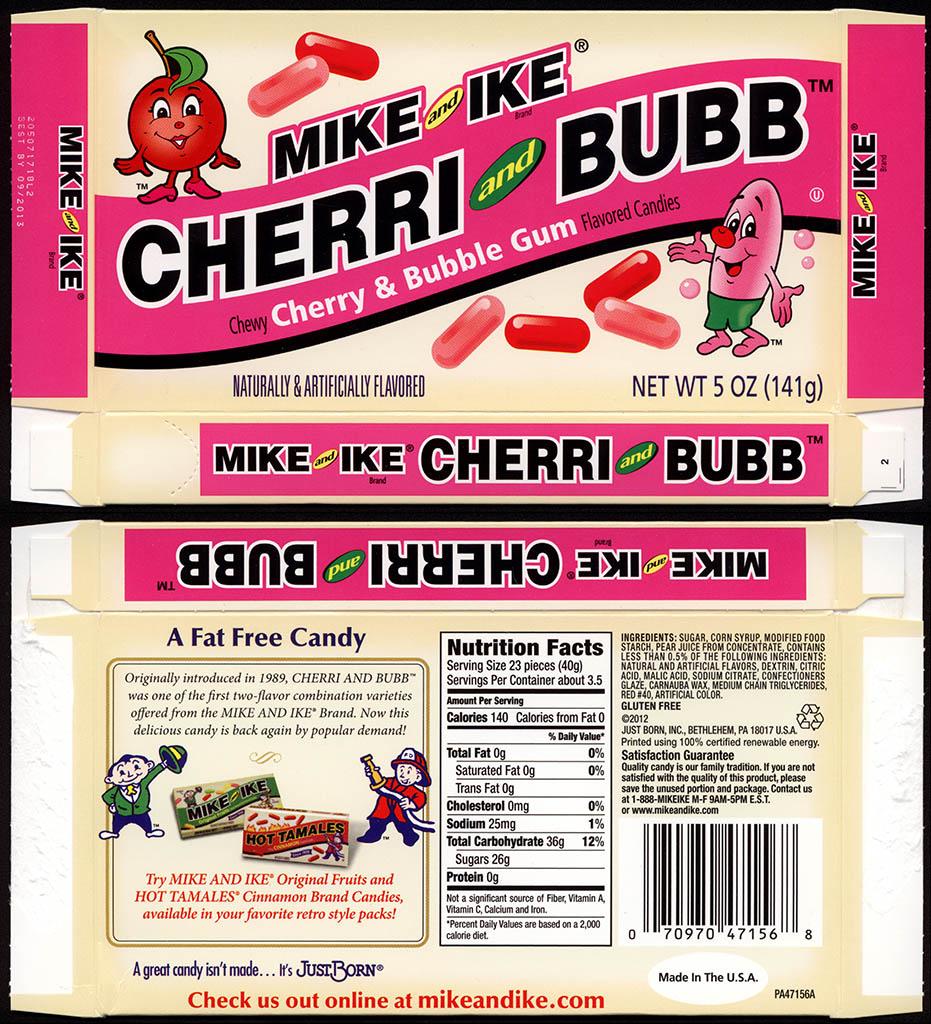 CC Just Born Mike And Ike Cherri Bubb Retro Candy Box Fall 2012
