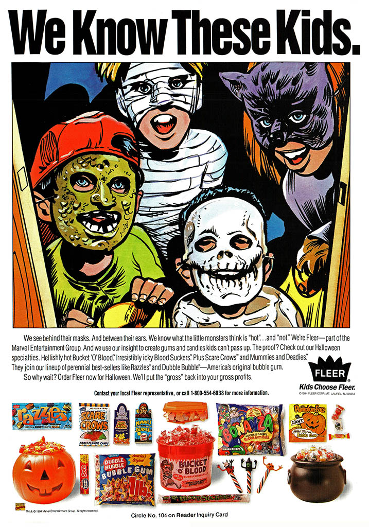 Vintage Halloween Ads.Fleer S 1993 Halloween Offerings Starring Mr Bones
