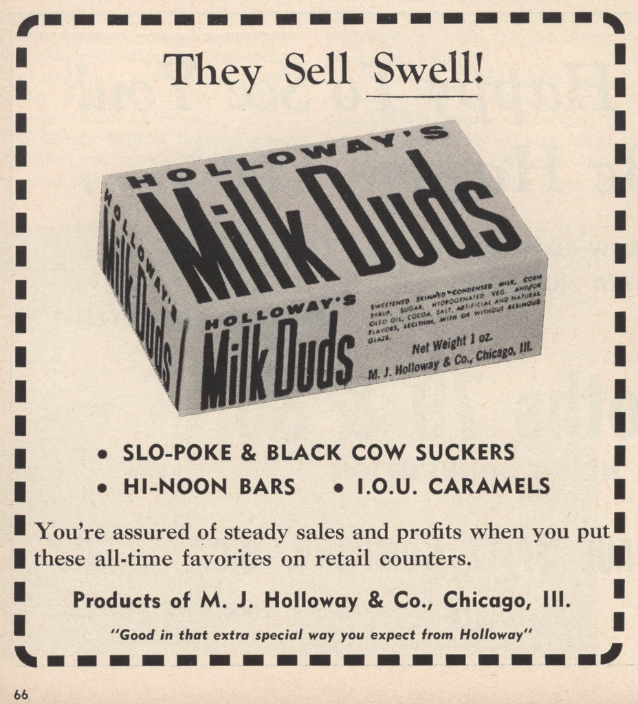 1963 Milk Duds box - Candy Trade Ad - 1963