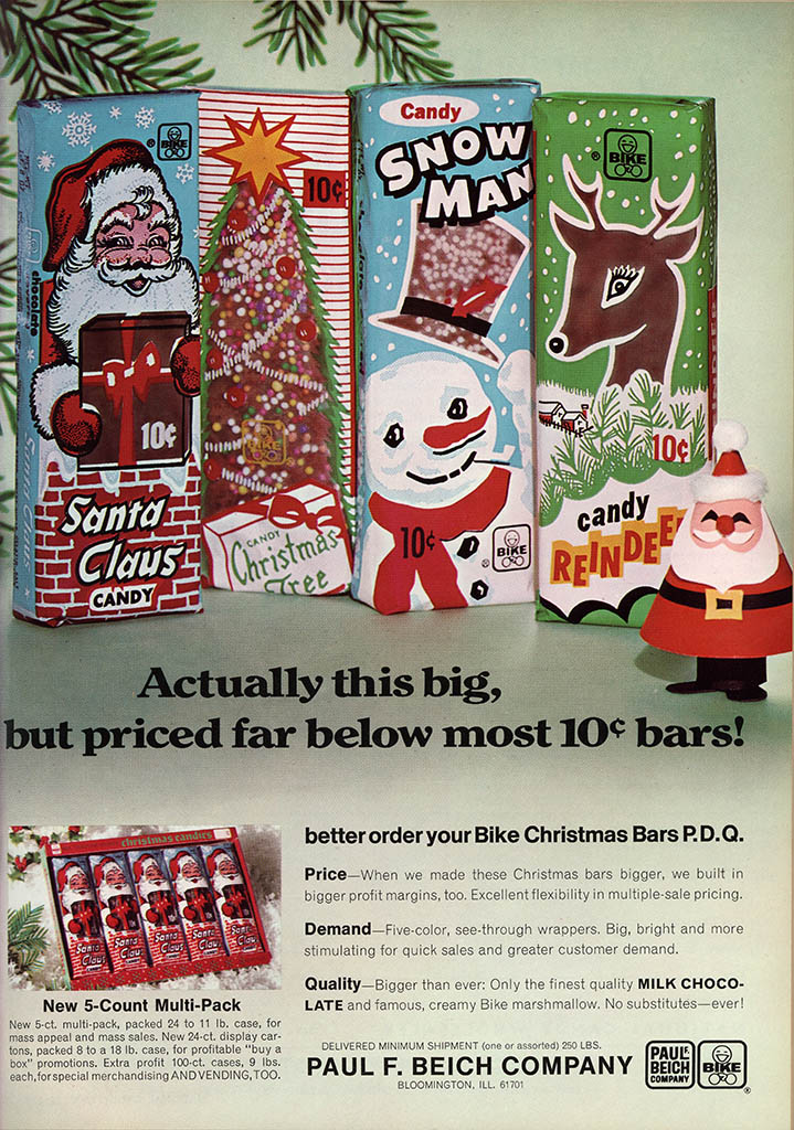 Beich - Christmas candy bars - candy trade magazine ad - National Candy Wholesaler Magazine - June 1969