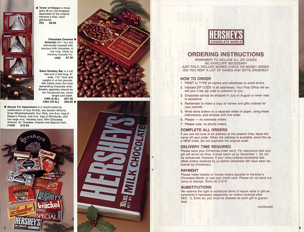 Hershey's Holiday Catalog 1982 - Page 05