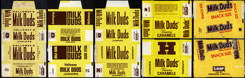 Milk Duds Juniors boxes - 1970's - 1990's