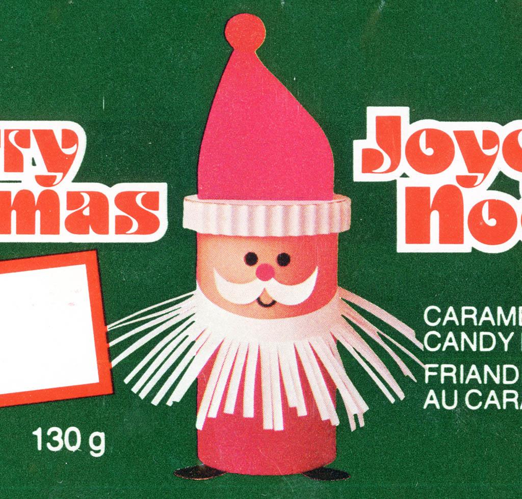 Santa graphic close-up.