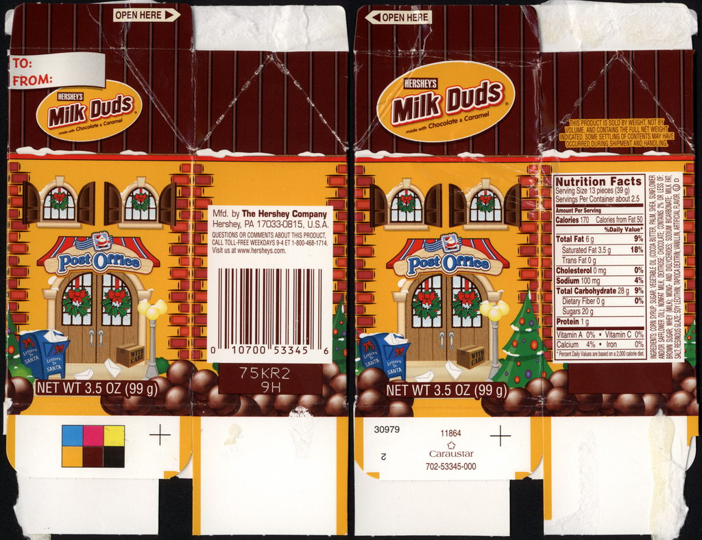 Hershey's - Milk Duds - Christmas village Post Office candy box - Holiday 2010