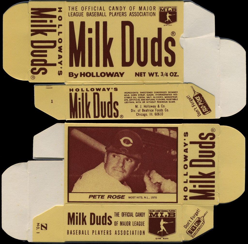 Holloway Milk Duds - MLB Pete Rose card box - 1971