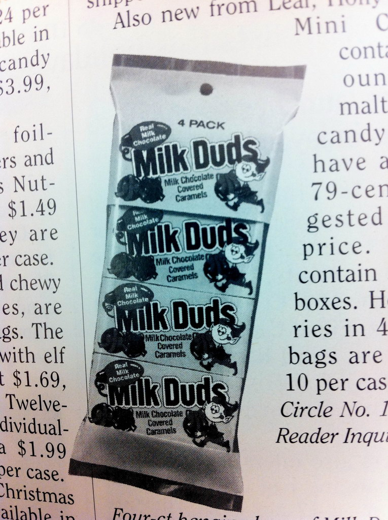 Milk Duds with Christmas Elf Mascots 1993