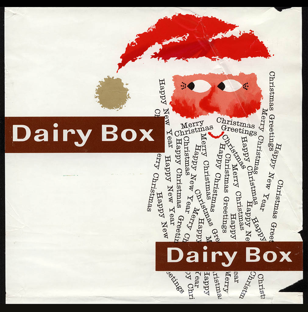 Rowntree Santa Dairy Box outer wrap - 1950's