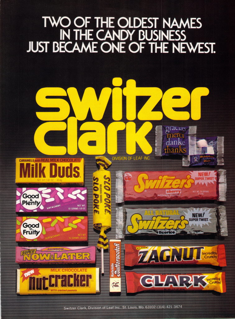 Switzer-Clark candy trade magazine advertisement - 1984