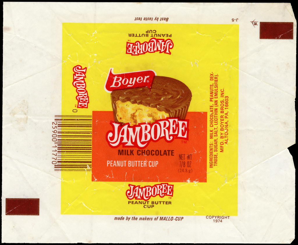 Boyer - Jamboree - candy bar wrapper - 1970's