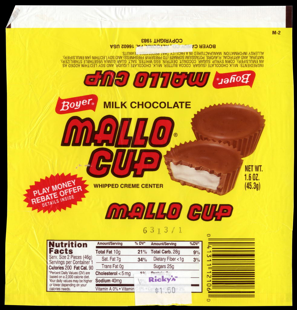 Boyer - Mallo Cup - candy wrapper - 2011
