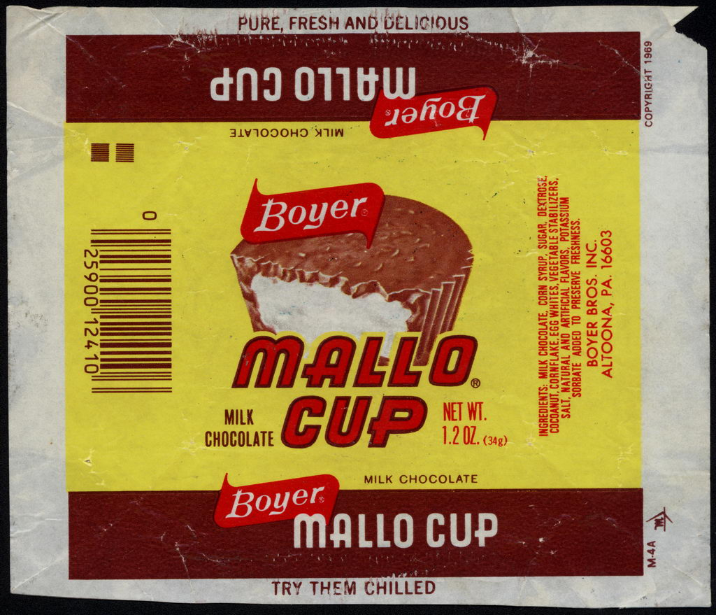 Boyer - Mallo Cup - candy wrapper - circa 1975-76