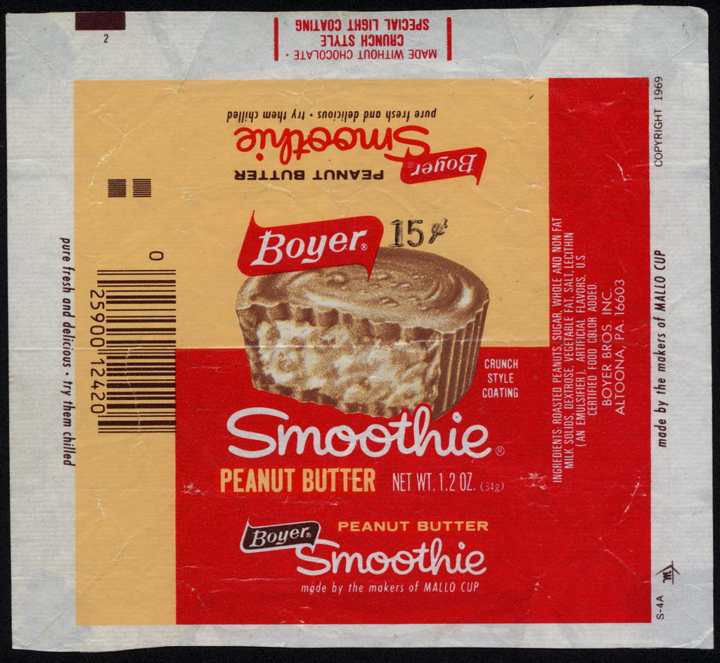 Boyer - Smoothie - 15-cent candy wrapper - circa 1975-76