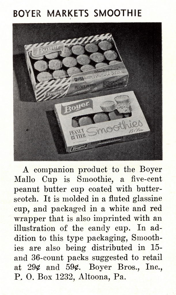 Boyer - Smoothie trade magazine announcement - National Candy Wholesaler - October 1963
