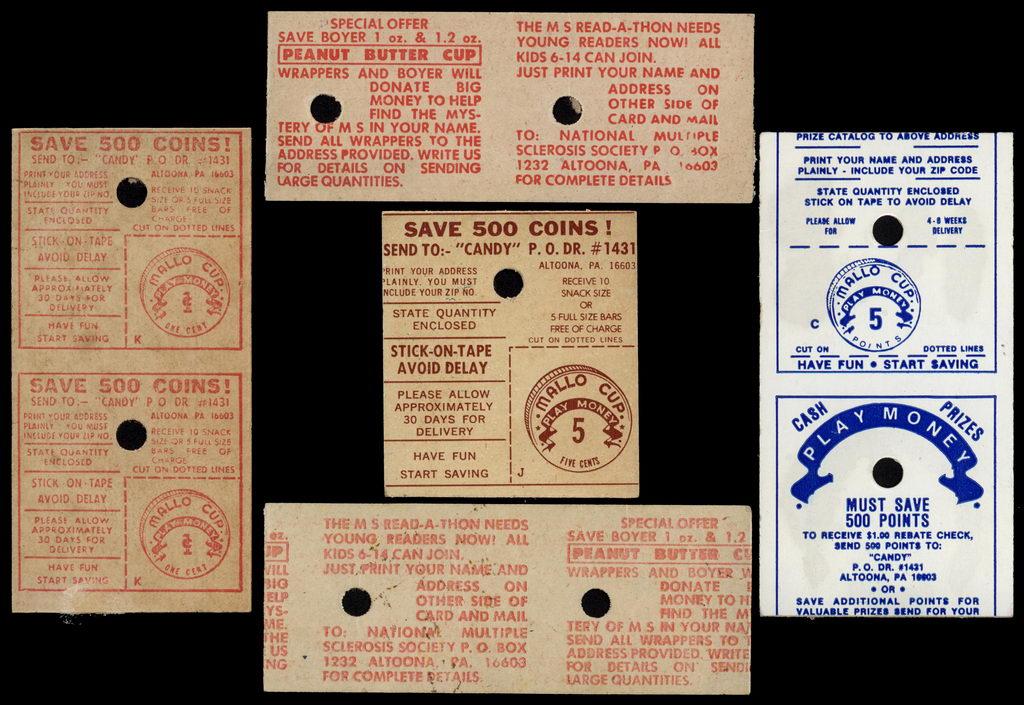 Boyer - Various Mallo Cup Money - circa 1970's-1980's