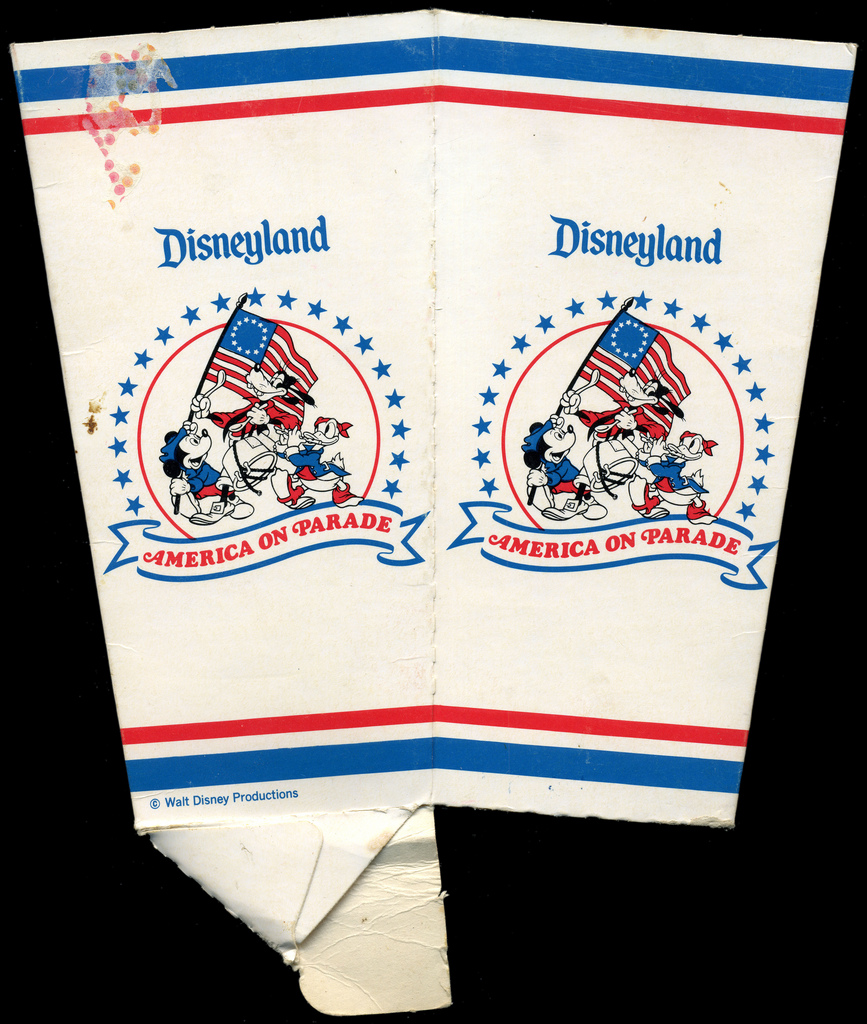 Disneyland - America On Parade popcorn box - 1975-1976