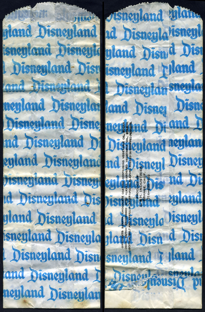 Disneyland - Frozen Banana confection wrapper - 1970's