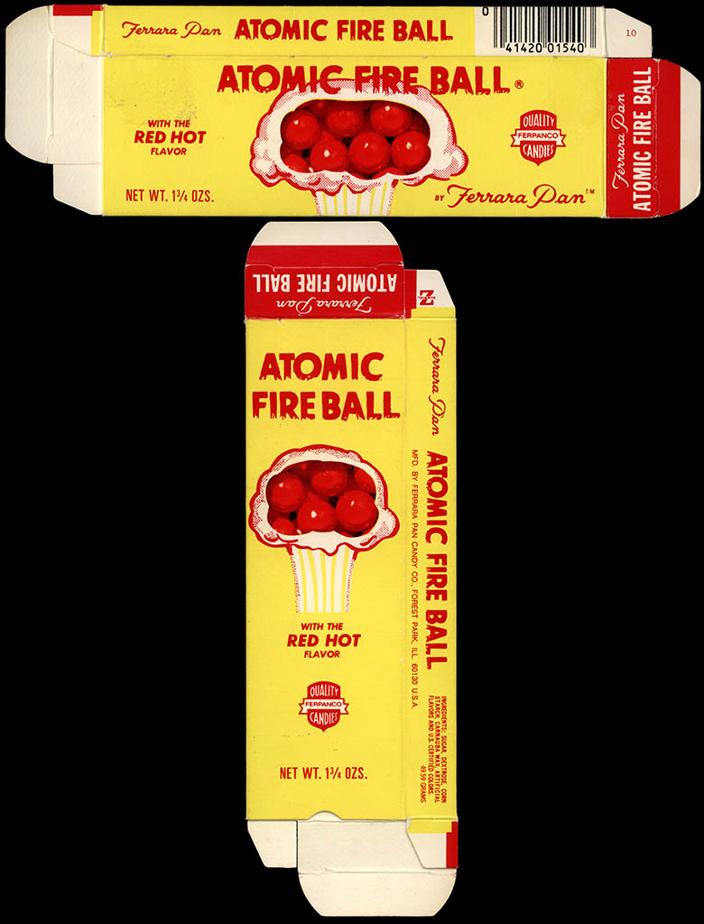 Ferrara Pan - Atomic Fire Ball - candy box - late 1970's