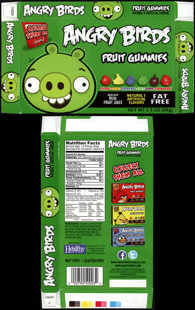 Healthy Food Brands - Angry Birds - Fruit Gummies - 4 of 4 - Bad Piggie - candy box - 2011