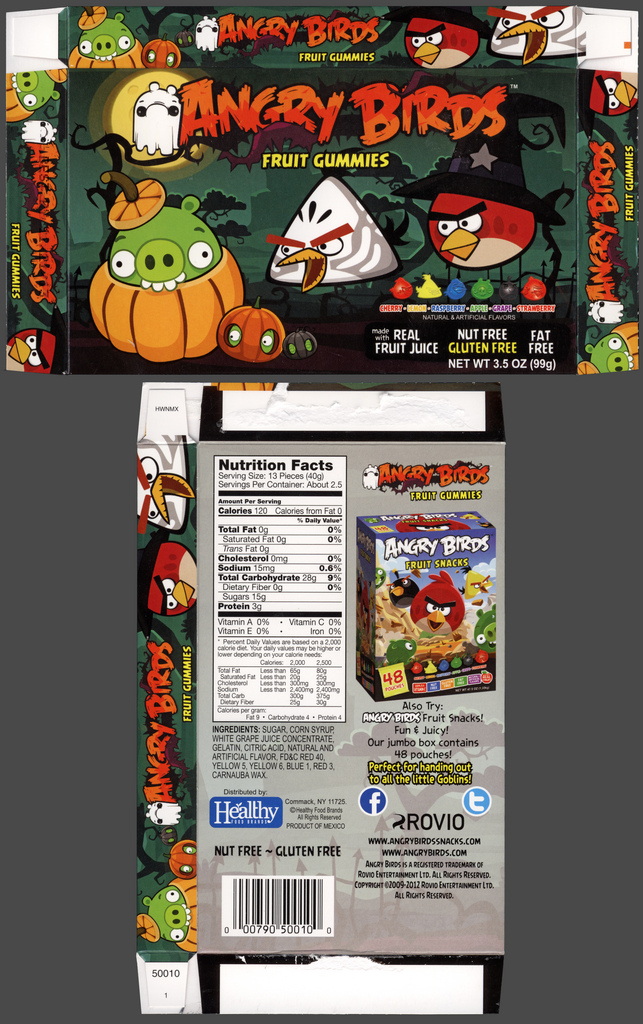 Healthy Food Brands - Angry Birds Halloween - Fruit Gummies - candy box - October 2012