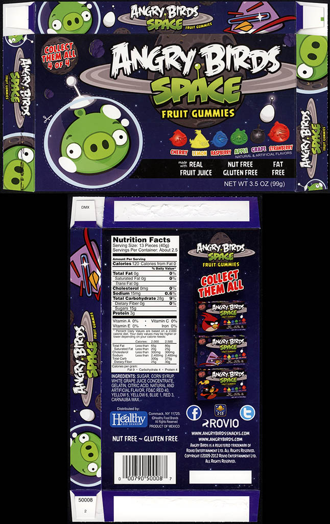 Healthy Food Brands - Angry Birds Space - Fruit Gummies - 4 of 4 - Bad Piggie - candy box - 2012