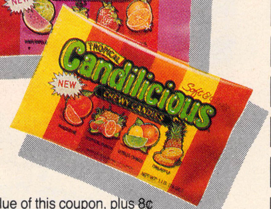 Tropical Candilicious image from circular ad - 1988