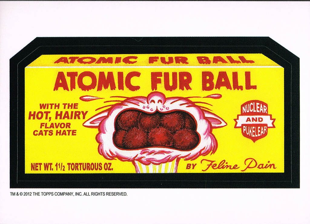 Wacky Packages Old School 4 - Atomic Fur Ball