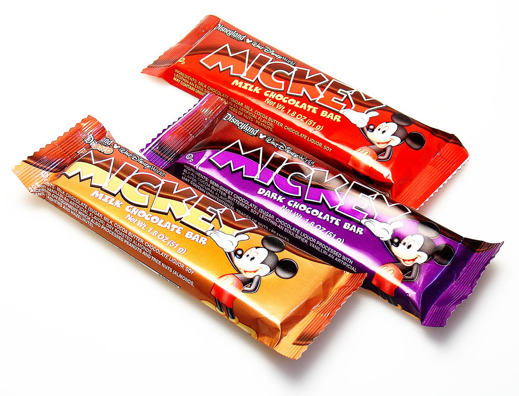 Disney Park - Mickey bars - 2007 - Image courtesy Candyblog.net