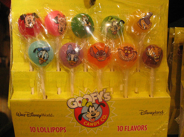 Disney Parks Lollipops - Image Courtesy Princess of llyr