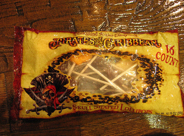 Disney Pirates of the Carribean skull-shaped lollipops - Image courtesy Princess of llyr