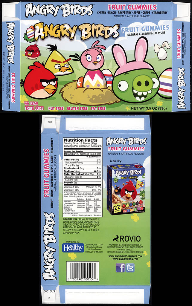 Healthy Food Brands - Angry Birds Easter - Fruit Gummies - candy box - February 2013