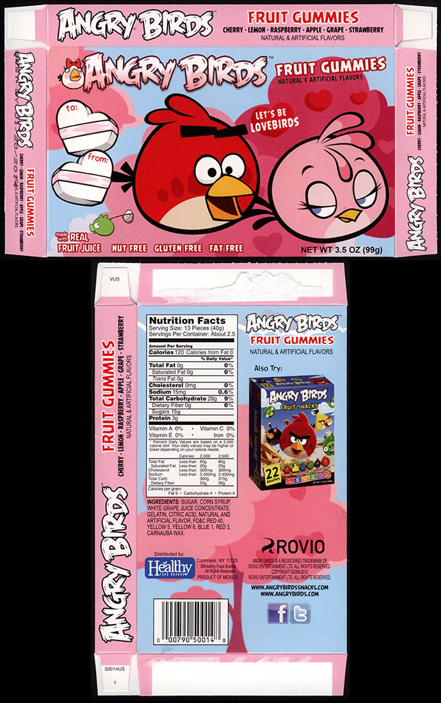 Healthy Food Brands - Angry Birds Valentine's Day - Fruit Gummies - candy box - January 2013