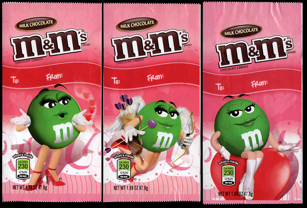 Mars - M&M's Milk Chocolate Valentine's Day holiday packs - 2011-2012 - 2-6