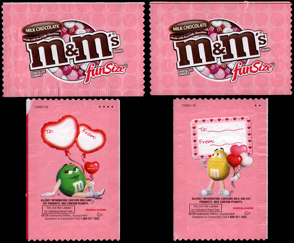 Mars - M&M's Milk Chocolate - Valentine's Fun Size pack - 2012 - Pink