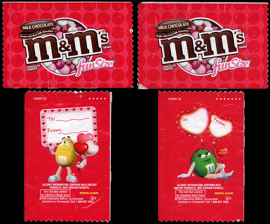 Mars - M&M's Milk Chocolate - Valentine's Fun Size pack - 2012 - Red